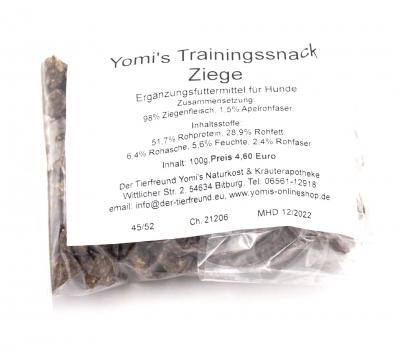 Yomis Trainingssnack Ziege 100g