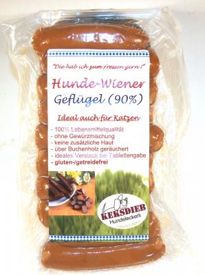 Hunde-Wiener Geflügel 90%
