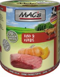 Macs Hundedosenfutter Rind & Kürbis 800g