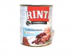 Rinti + Geflügelherzen 800g Hundedosenfutter