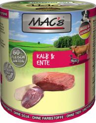 Macs Hundedosenfutter Kalb & Ente 800g