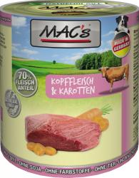 Macs Hundedosenfutter Kopffleisch & Karotten 800g