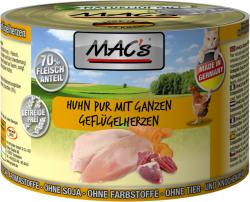 Mac's Katzendosenfutter Huhn pur mit Geflügelherzen 200g