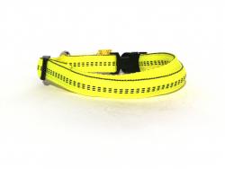 Hundehalsband Nylon gelb