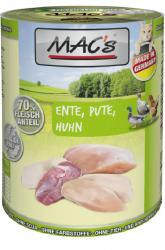 Mac's Katzendosenfutter Ente, Pute und Huhn 400g