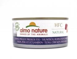 Almo Nature Thunfisch, Huhn und Schinken 140g