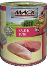 Mac's Katzendosenfutter Kalb & Pute 400g
