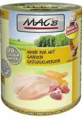 Mac's Katzendosenfutter Huhn pur mit Geflügelherzen 400g