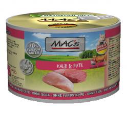 Mac's Katzendosenfutter Kalb & Pute 200g
