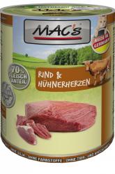 Mac's Katzendosenfutter Rind und Hühnerherzen 400g