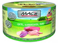 Mac's Katzendosenfutter Ente, Kaninchen und Rind 200g