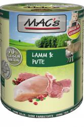 Mac's Katzendosenfutter Lamm und Pute 400g