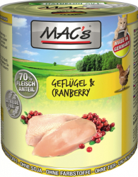 Mac's Katzendosenfutter Geflügel & Cranberry 800g