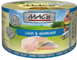 Mac's Katzendosenfutter Lachs & Hühnchen 200g