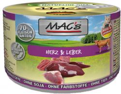 Mac's Katzendosenfutter Herz, Leber 200g